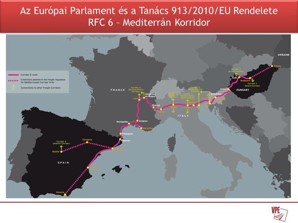 RFC 6 – 'Mediterrán Korridor':  5 ország, 8 tag (MÁV Zrt., VPE Kft.)  Irányító Testület (Executive Board): Alakulás alatt  Ügyvivő Testület (Management Board): Megalakult – 2012.