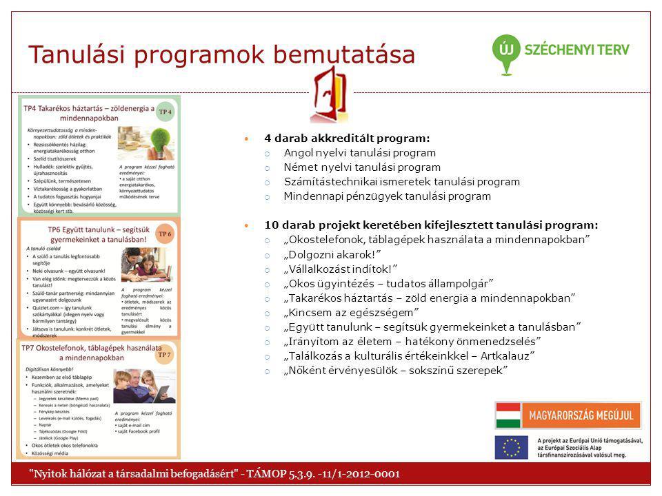 Tanulási programok bemutatása