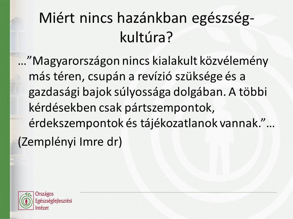 Egészség-műveltség ( Health Literacy ) Az egészséggel kapcsolatos alapvető információk és szolgáltatások elérésének, értelmezésének és megértésének képessége, valamint ezen információk és szolgáltatások felhasználásának kompetenciája az egészség fejlesztése érdekében. (Ratzan & Parker 2000; IOM 2004)