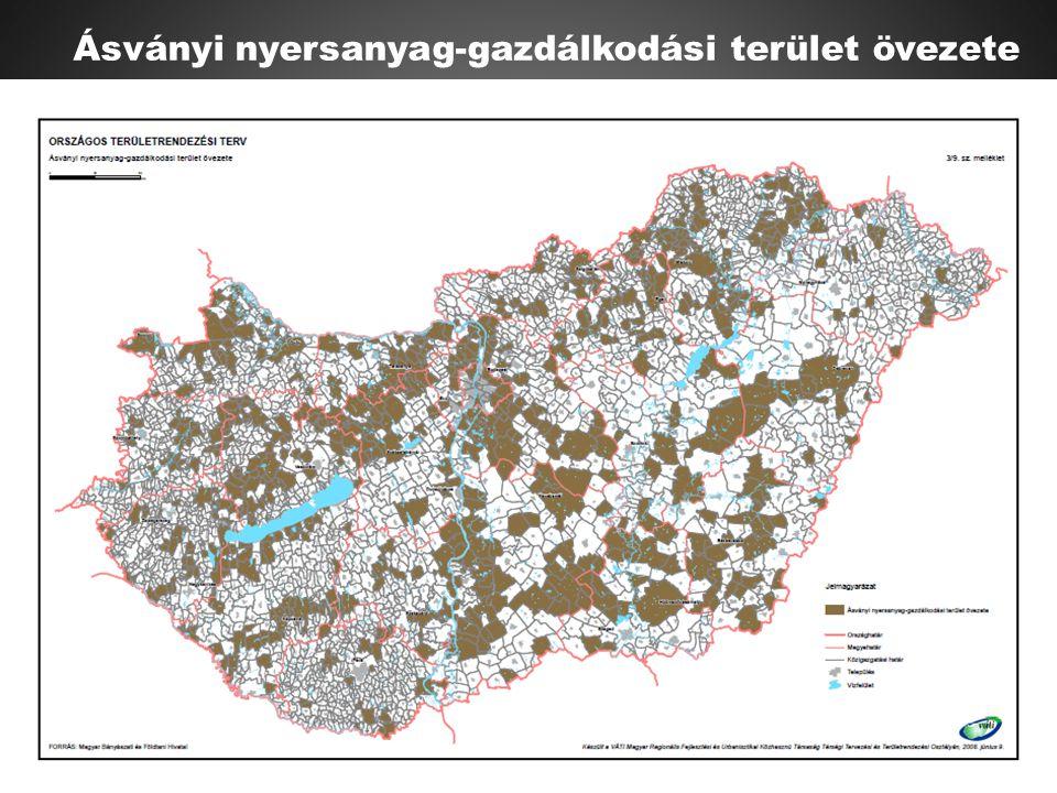 Ásványi nyersanyag-gazdálkodási terület övezete