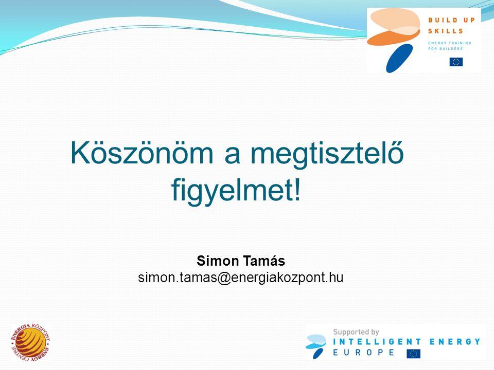 Köszönöm a megtisztelő figyelmet! Simon Tamás simon.tamas@energiakozpont.hu