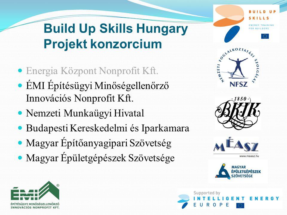 Build Up Skills Hungary Projekt konzorcium  Energia Központ Nonprofit Kft.  ÉMI Építésügyi Minőségellenőrző Innovációs Nonprofit Kft.  Nemzeti Munk