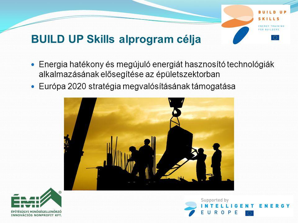  Energia hatékony és megújuló energiát hasznosító technológiák alkalmazásának elősegítése az épületszektorban  Európa 2020 stratégia megvalósításána