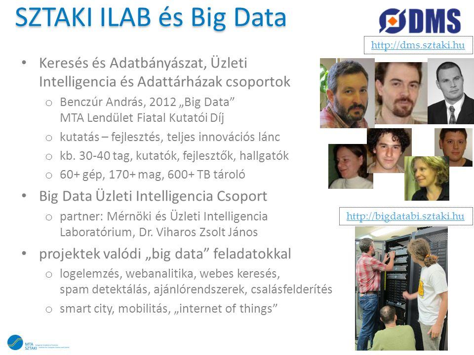 """SZTAKI ILAB és Big Data • Keresés és Adatbányászat, Üzleti Intelligencia és Adattárházak csoportok o Benczúr András, 2012 """"Big Data"""" MTA Lendület Fiat"""