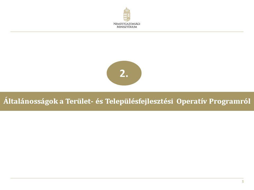19 A Terület- és Településfejlesztési Operatív Program felépítése 3.