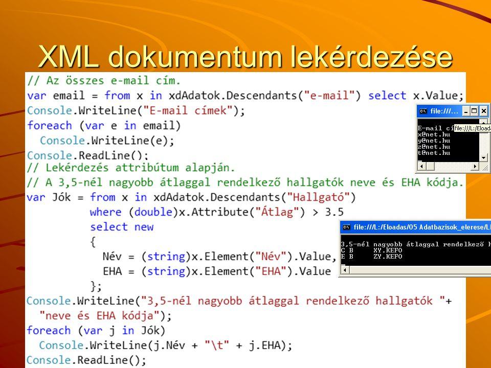 XML dokumentum lekérdezése J.Zs.Cs.: Vizuális programozás (c) 2014 207