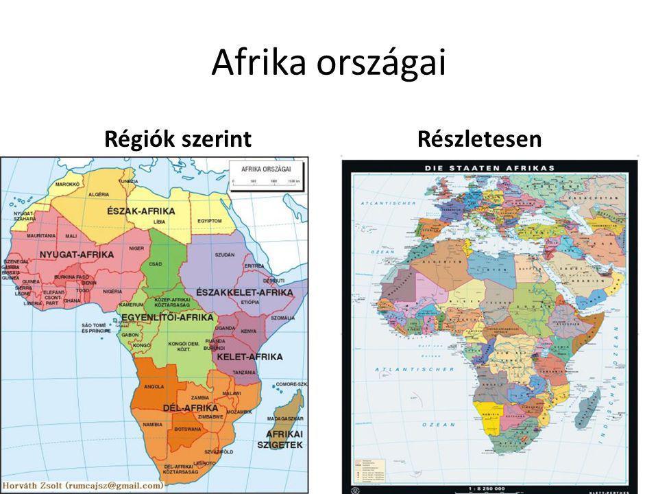 Afrika országai Régiók szerintRészletesen