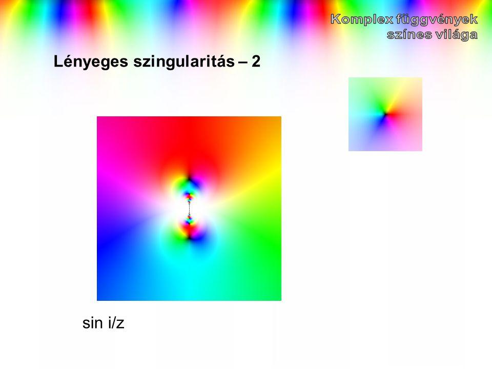 Lényeges szingularitás – 2 sin i/z