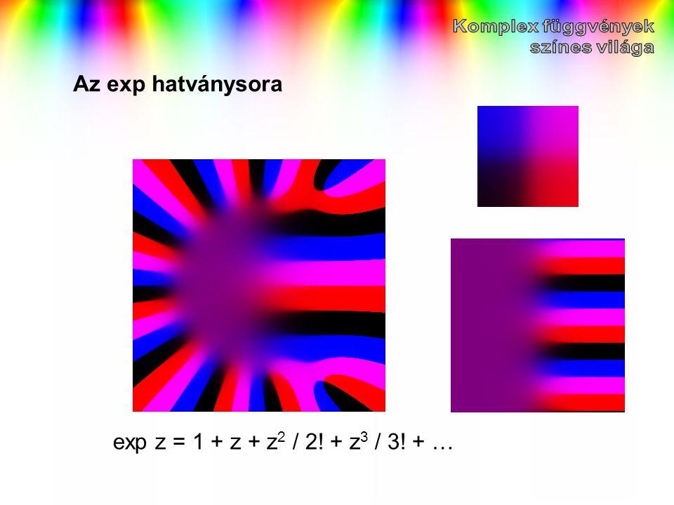 Az exp hatványsora exp z = 1 + z + z 2 / 2! + z 3 / 3! + …