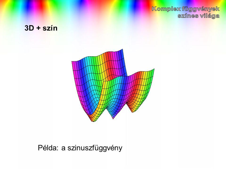 3D + szín Példa: a szinuszfüggvény