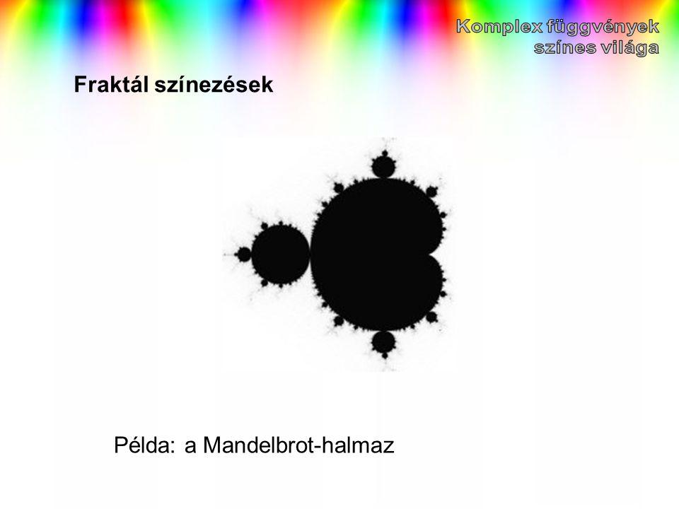 Fraktál színezések Példa: a Mandelbrot-halmaz