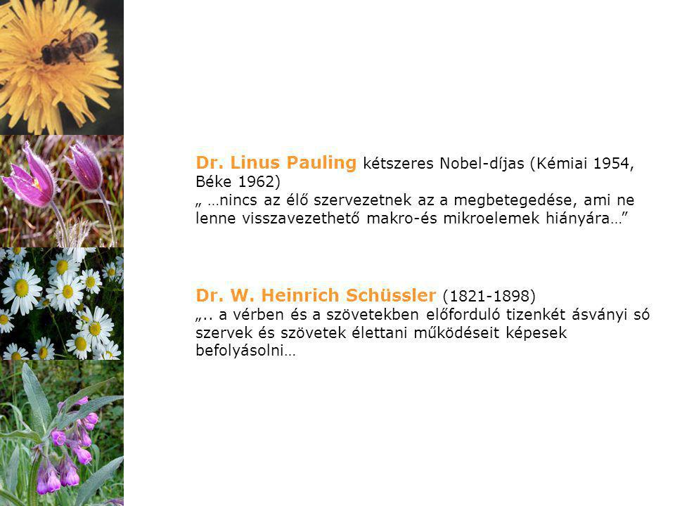 """Dr. Linus Pauling kétszeres Nobel-díjas (Kémiai 1954, Béke 1962) """" …nincs az élő szervezetnek az a megbetegedése, ami ne lenne visszavezethető makro-é"""