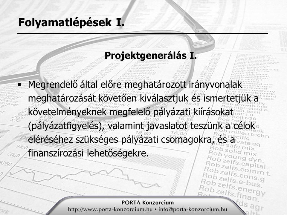 Folyamatlépések II.Projektgenerálás II.