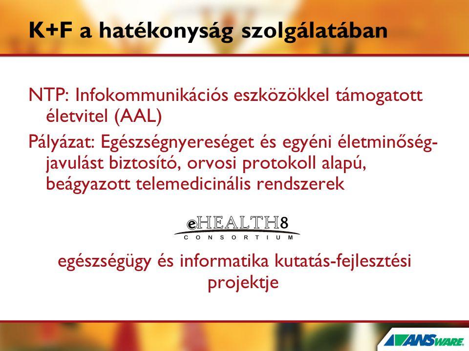 K+F a hatékonyság szolgálatában NTP: Infokommunikációs eszközökkel támogatott életvitel (AAL) Pályázat: Egészségnyereséget és egyéni életminőség- javu