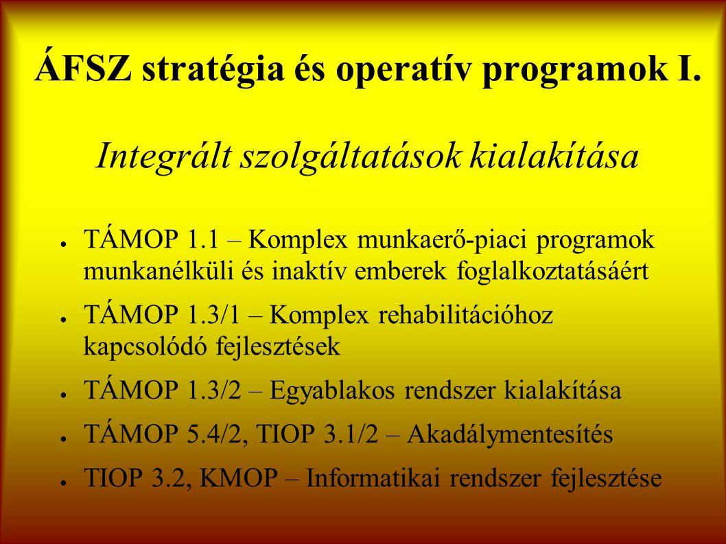 ÁFSZ stratégia és operatív programok I.