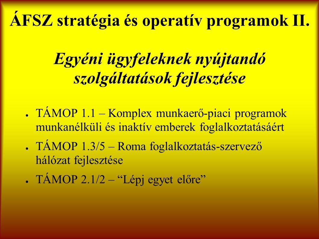 ÁFSZ stratégia és operatív programok II.