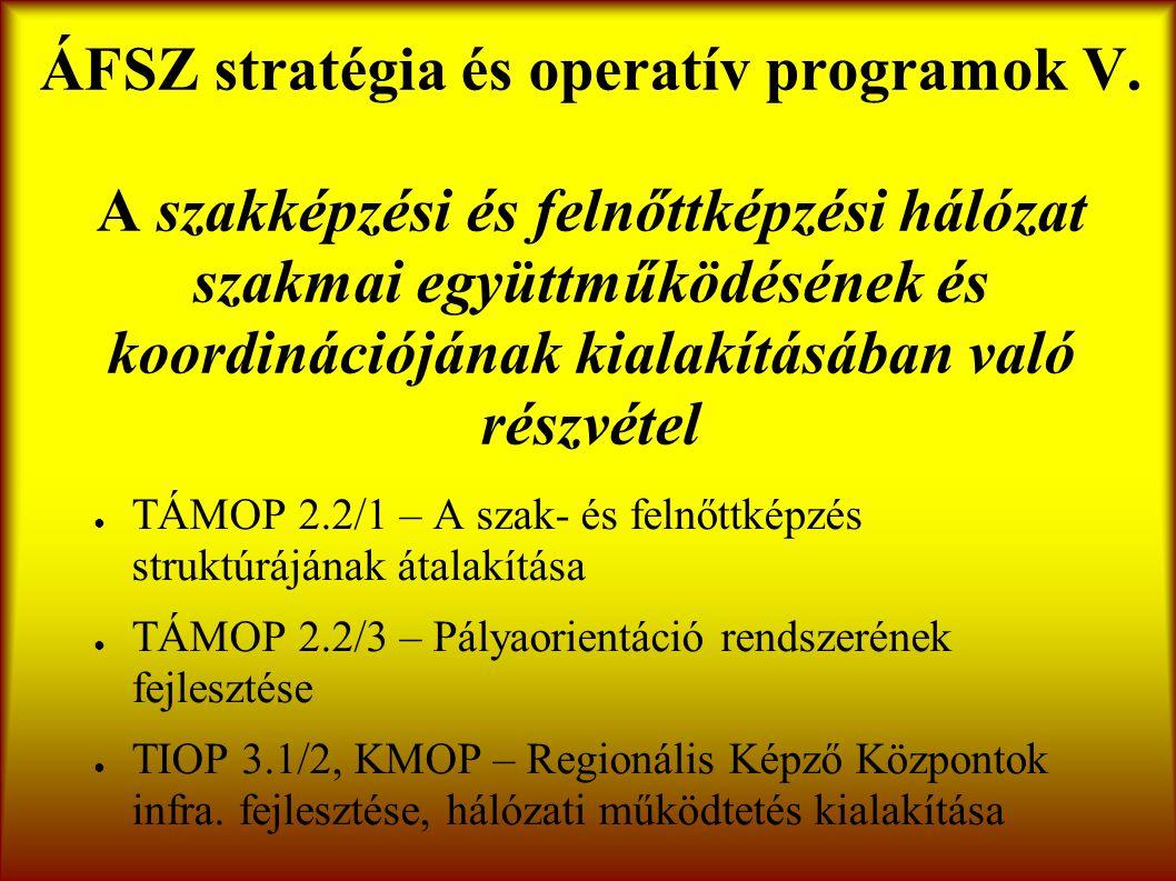 ÁFSZ stratégia és operatív programok V.