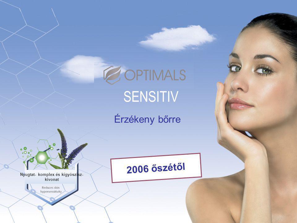 Érzékeny bőrre SENSITIV Nyugtat- komplex és kígyószisz- kivonat 2006 őszétől