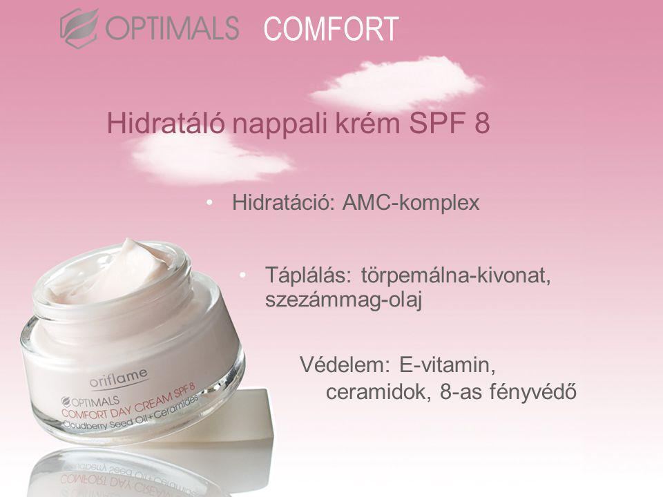 Hidratáló éjszakai krém •Ceramidokkal erősíti a bőr védőrétegének funkcióit •Kreatinnal növeli a sejtek energiáját, törpemálna- kivonattal fiatalít •Mérhetően javítja a bőr hidratáltságát COMFORT