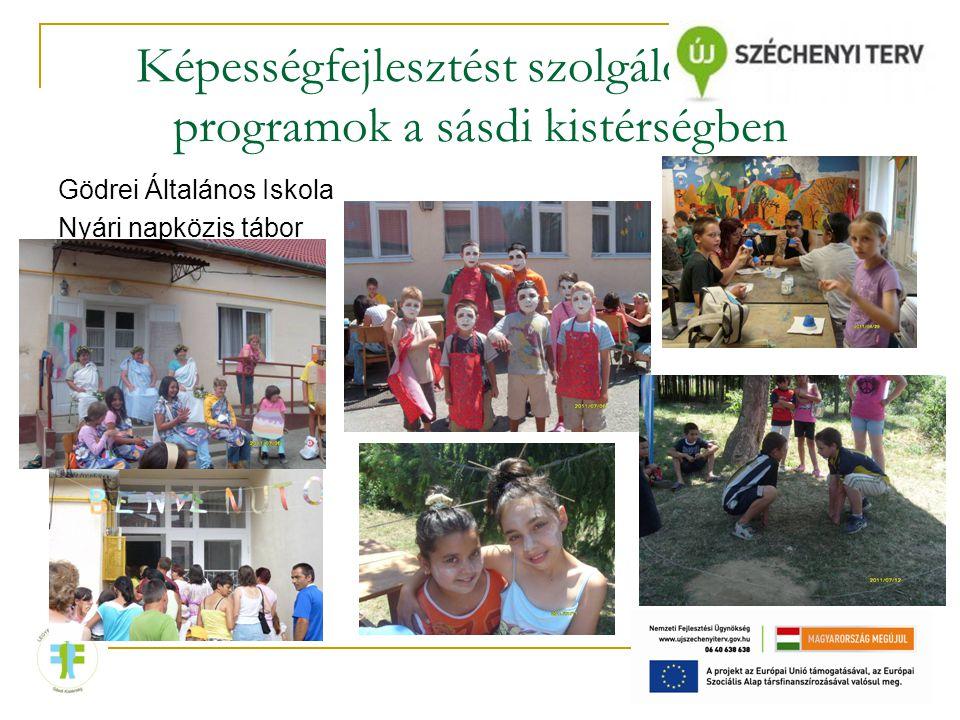 Képességfejlesztést szolgáló iskolai programok a sásdi kistérségben Gödrei Általános Iskola Nyári napközis tábor