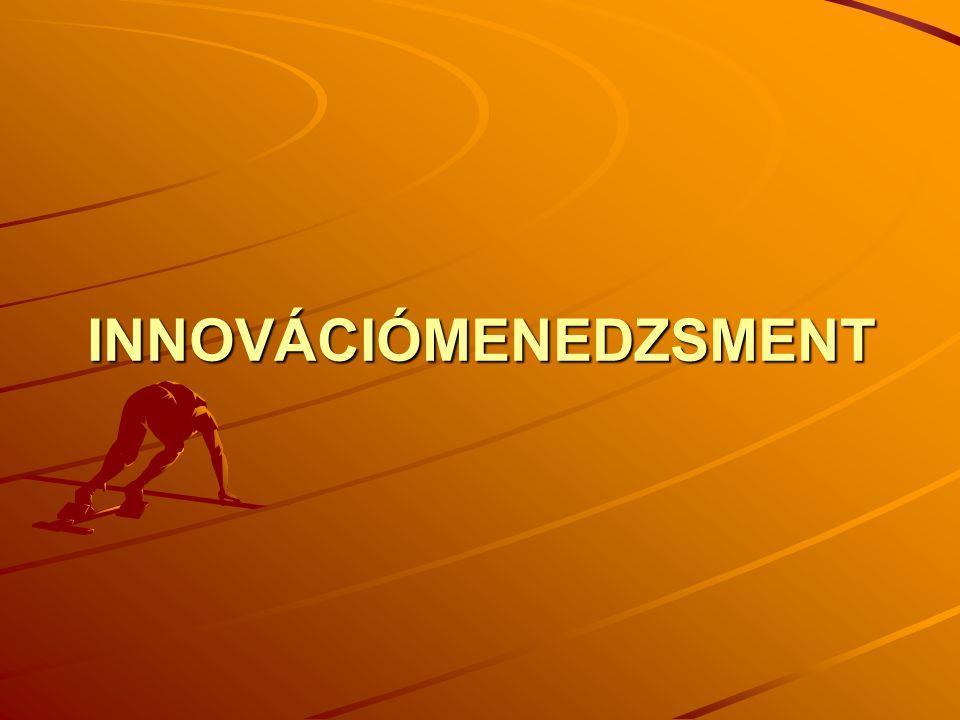 Az innováció fogalma Schumpeter 5 esete Egy új szervezeti megvalósítás.