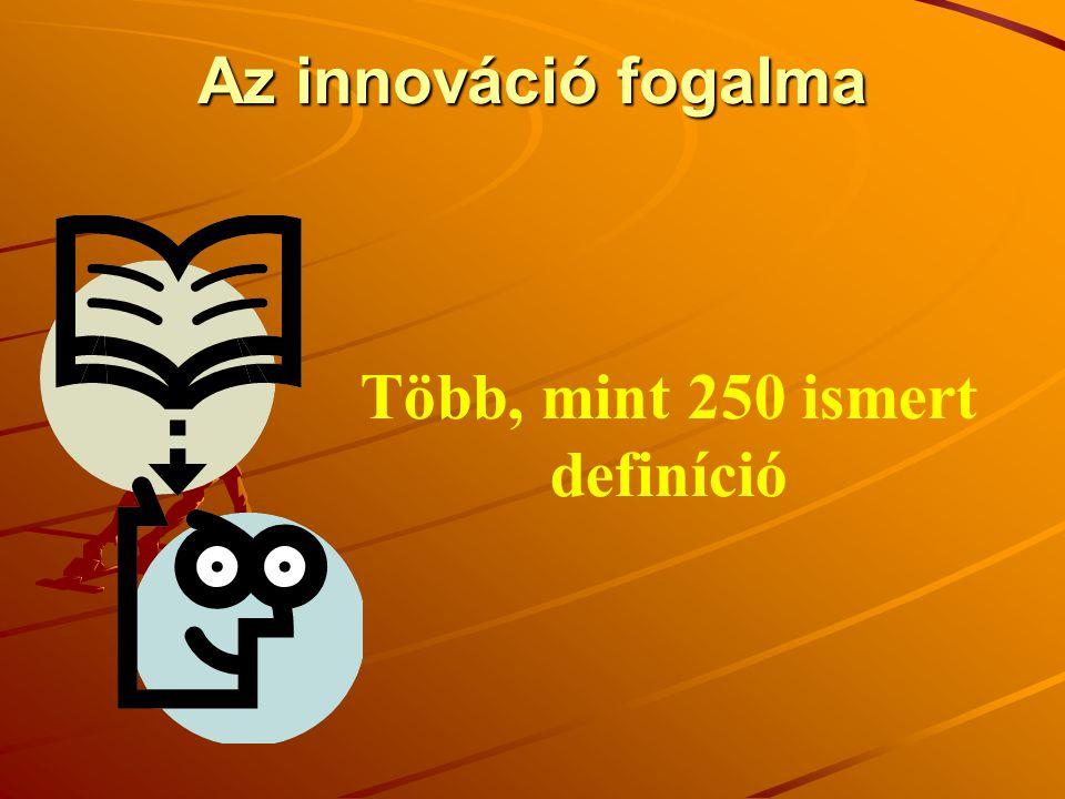 Az innováció fogalma Több, mint 250 ismert definíció