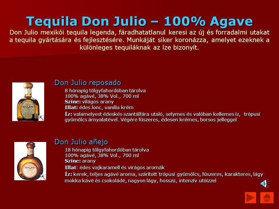 Tequila Don Julio – 100% Agave Tequila Don Julio – 100% Agave Don Julio mexikói tequila legenda, fáradhatatlanul keresi az új és forradalmi utakat a t