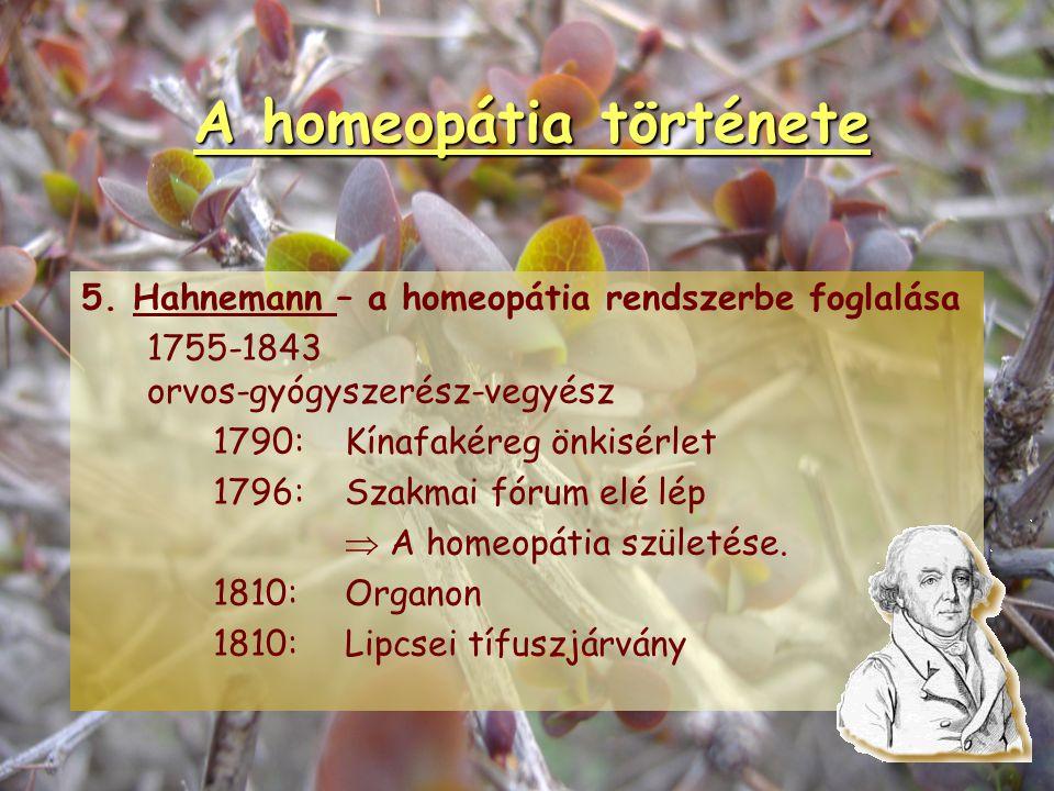 """A homeopátia története 1.Védák könyve - """"Hasonló a hasonlóval gyógyítható."""" 2.Hippokratész - """" A betegség olyan szerekkel gyógyítható, amelyek a beteg"""