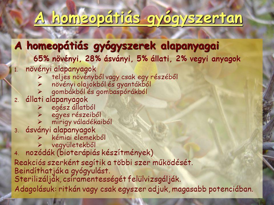 A homeopátia előnyei, lehetőségei, határai Határai:   ahol a szervezet saját energiái már nem mozgósíthatók