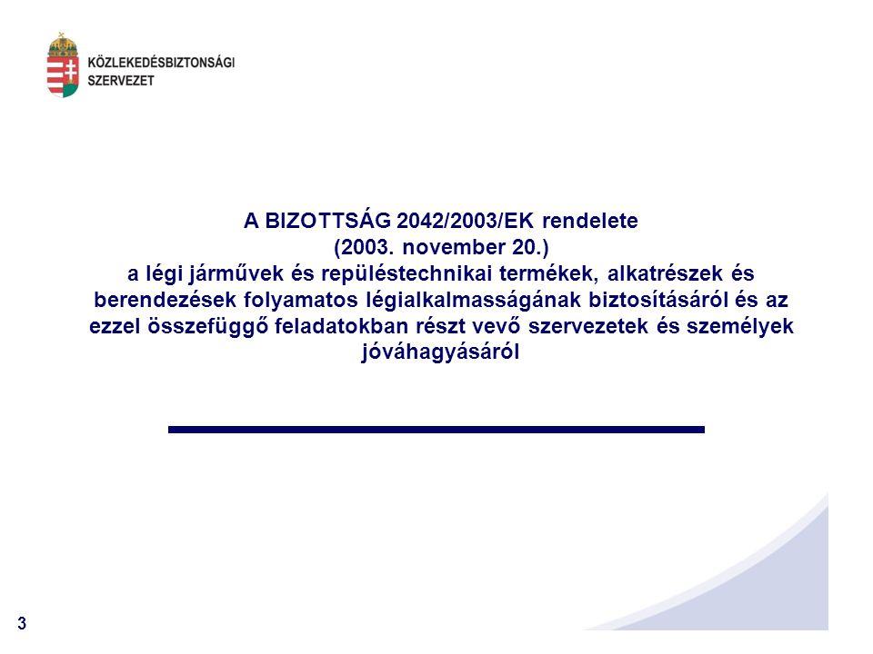3 A BIZOTTSÁG 2042/2003/EK rendelete (2003.