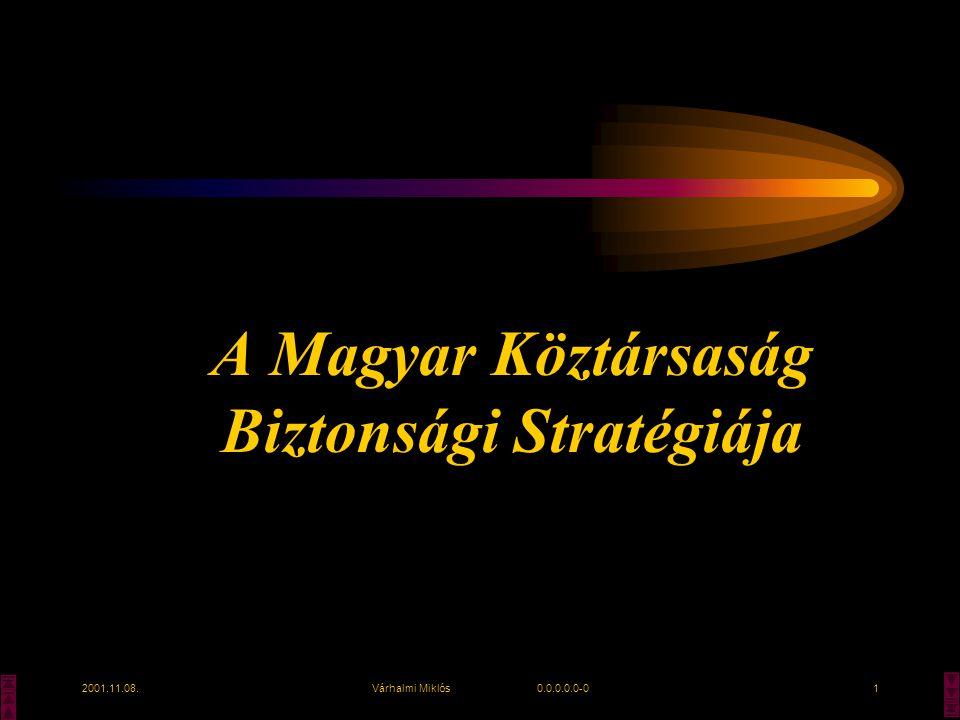 2001.11.08.Várhalmi Miklós 0.0.0.0.0-01 A Magyar Köztársaság Biztonsági Stratégiája