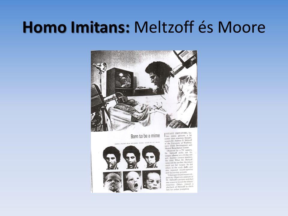 """""""Homo Imitans et Provocans • Az újszülött olyan komplex szociális készségekkel születik, amelyek az emberi egyetemes magatartásformák elemei közé tartoznak, • +: az anya hasonlóan invariáns felkészültséggel várja őt"""