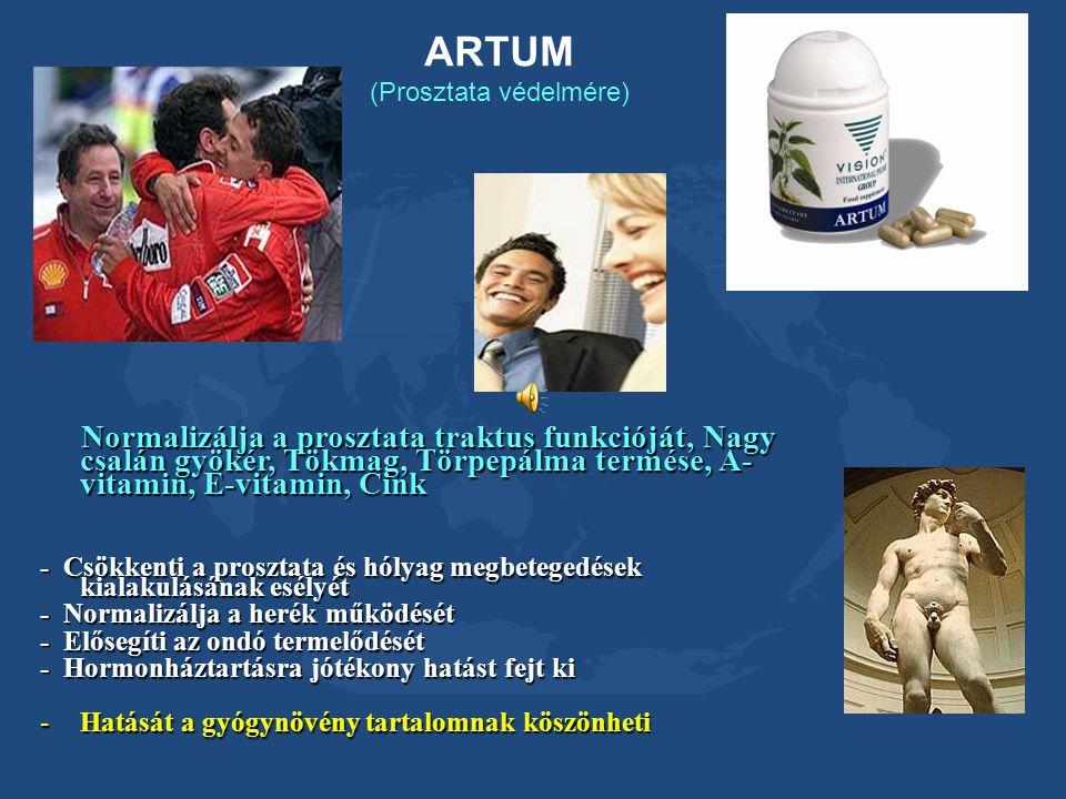 ARTUM (Prosztata védelmére) Normalizálja a prosztata traktus funkcióját, Nagy csalán gyökér, Tökmag, Törpepálma termése, A- vitamin, E-vitamin, Cink N