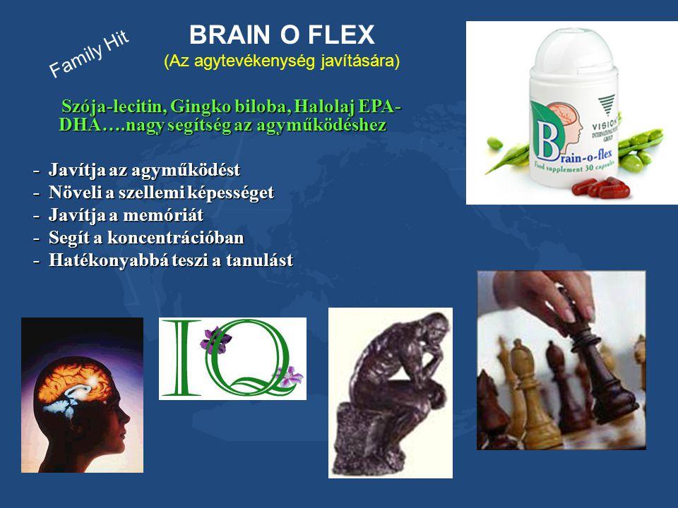 BRAIN O FLEX (Az agytevékenység javítására) Szója-lecitin, Gingko biloba, Halolaj EPA- DHA….nagy segítség az agyműködéshez Szója-lecitin, Gingko bilob