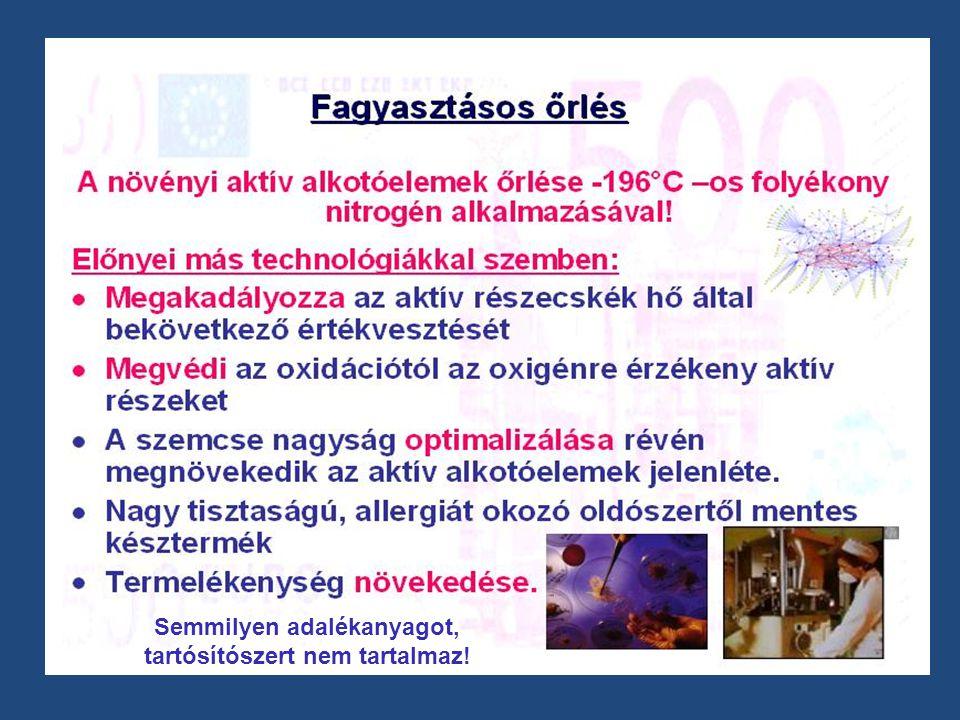 - Az immunrendszer erősítése - A szervezet megtisztítása (a szervezetre káros anyagok eltávolítása) (a szervezetre káros anyagok eltávolítása) - A benne található gyógynövény tulajdonságainak maximális kihasználása (vírus és baktérium ellen, gyulladás csökkentés) - A megfázásos megbetegedések gyakoriságának csökkentése - A szervezet általános állapotjavítása - Az idült betegségek lefolyásának megkönnyítése és a gyógyulás gyorsítása Hatása a gyógynövény tartalomnak is köszönhető.