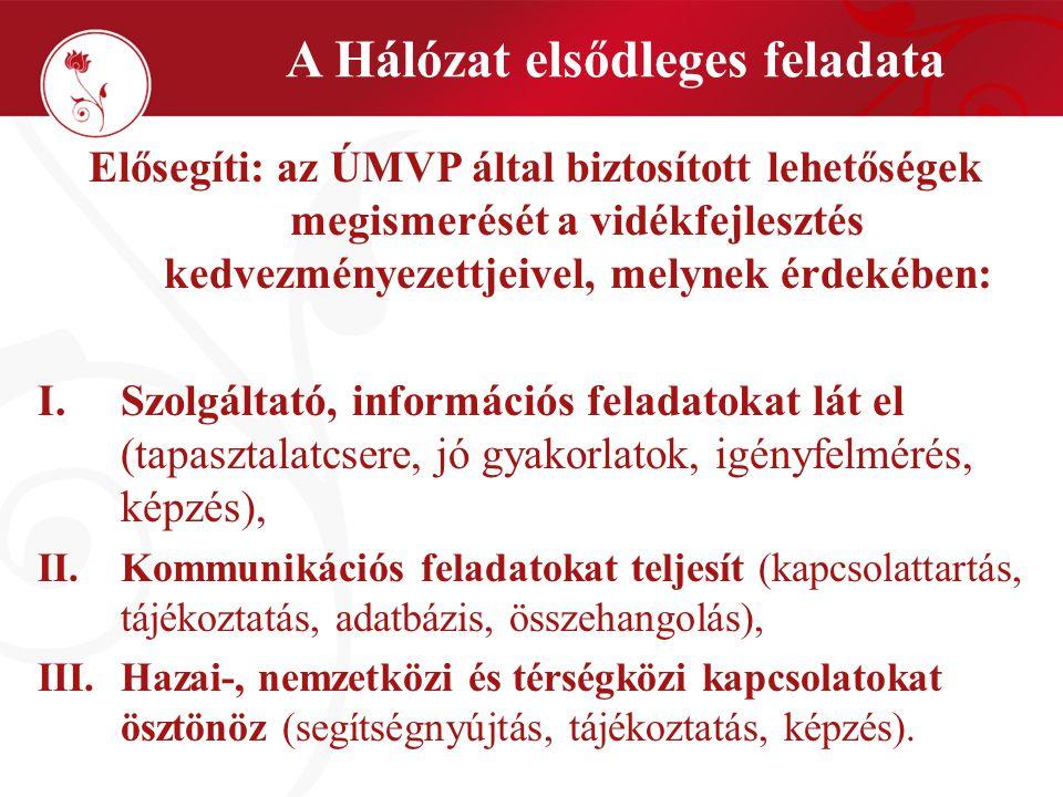 Szakterületek 7.A LEADER szakterülete: minden LEADER együttműködésben érintett tag számára; 8.