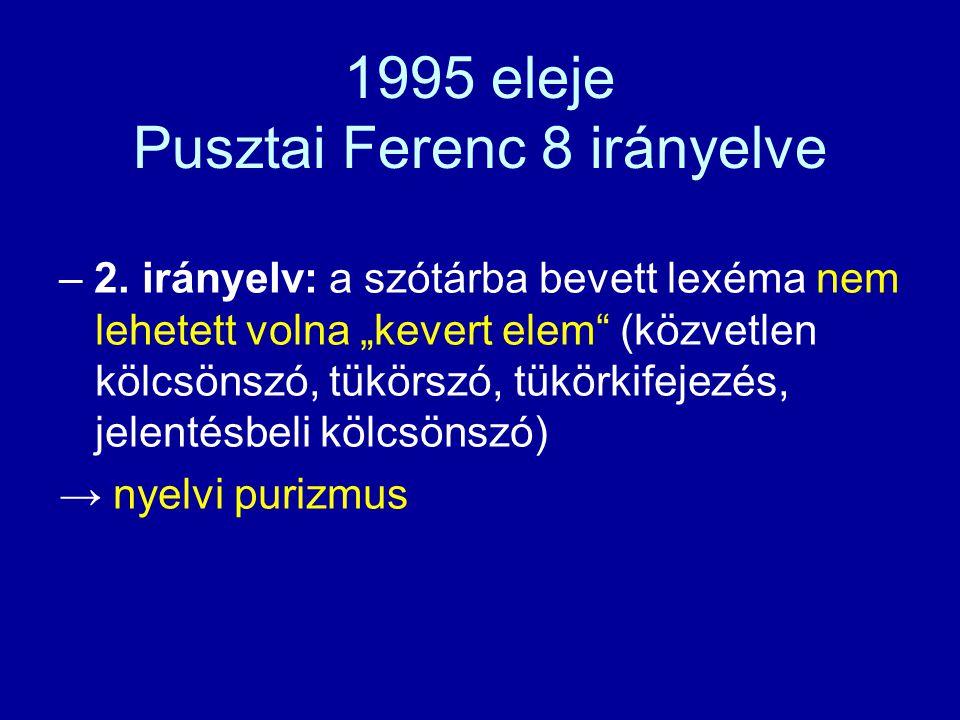 Budapest 1994 ősze – a Nyelvtudományi Intézet átértékelte az értelmező kéziszótár új kiadásának koncepcióját – Er: Péntek János és Szilágyi N.