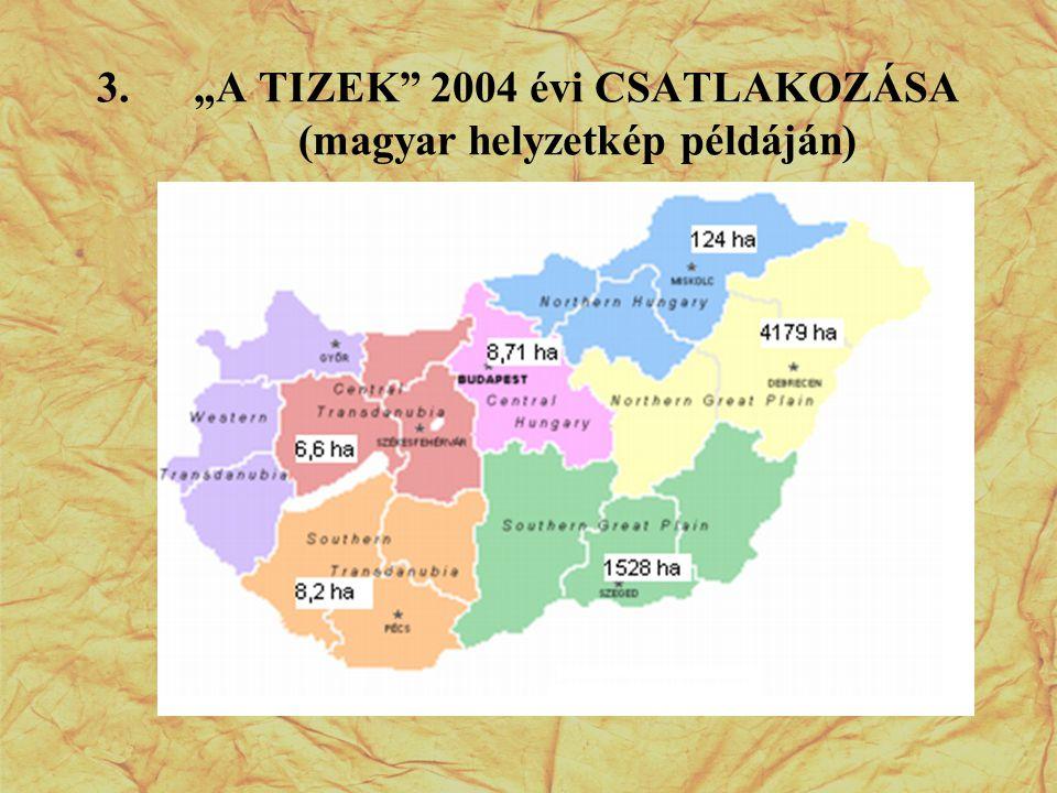 """3.""""A TIZEK"""" 2004 évi CSATLAKOZÁSA (magyar helyzetkép példáján)"""
