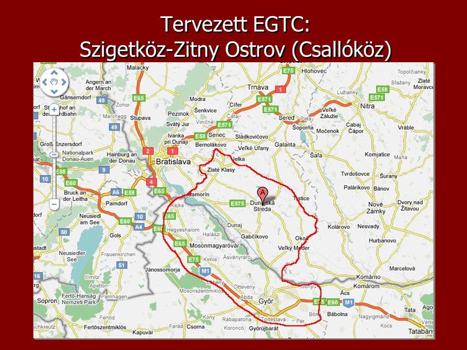 Tervezett EGTC: Szigetköz-Zitny Ostrov (Csallóköz)