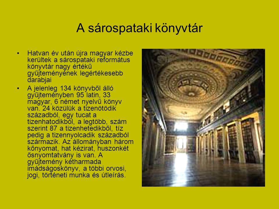 A sárospataki Rákóczi-vár • A Pataki vár vagy Rákóczi-vár a hazai késő reneszánsz építészet legértékesebb együttesei közé tartozó történelmi épület, S