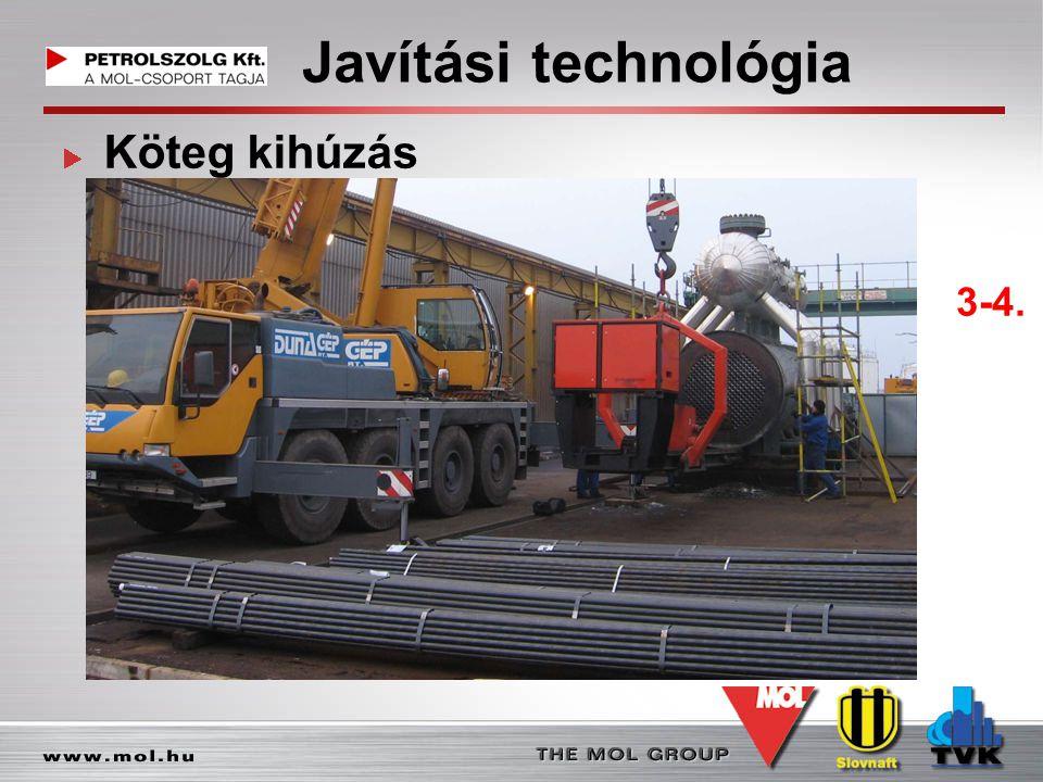 Javítási technológia Köteg kihúzás 3-4.