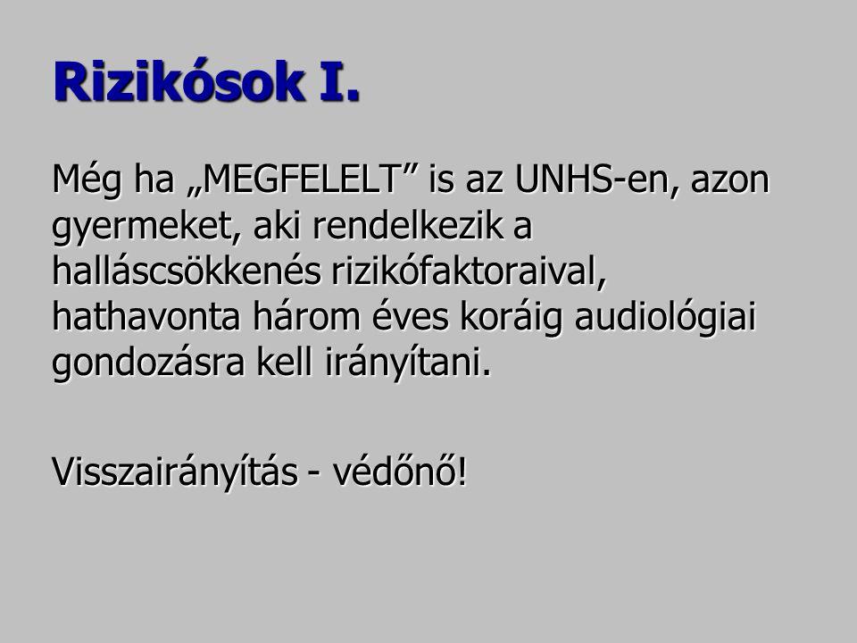 """Rizikósok I. Még ha """"MEGFELELT"""" is az UNHS-en, azon gyermeket, aki rendelkezik a halláscsökkenés rizikófaktoraival, hathavonta három éves koráig audio"""