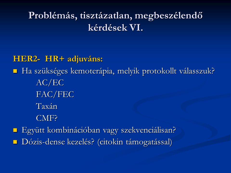 Problémás, tisztázatlan, megbeszélendő kérdések VI.