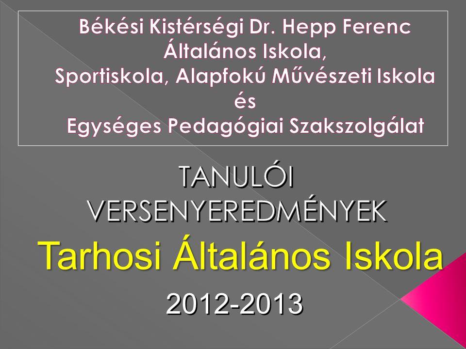 2012-2013 Tarhosi Általános Iskola