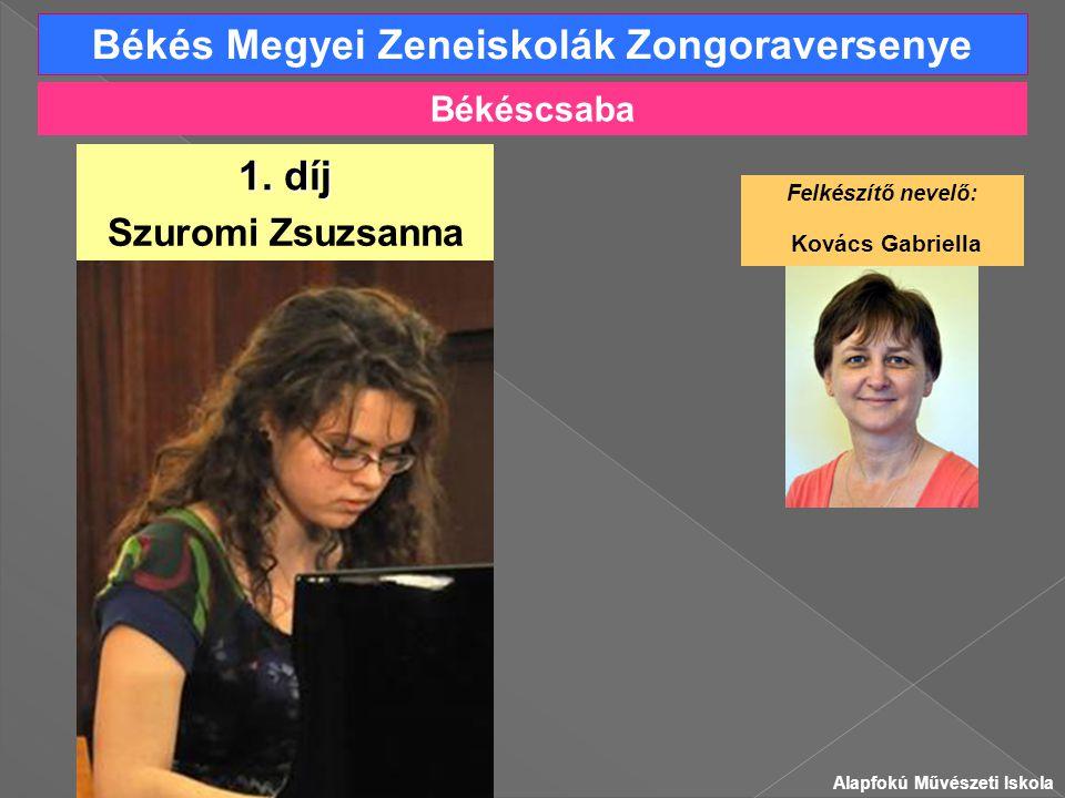 Békés Megyei Zeneiskolák Zongoraversenye Szuromi Zsuzsanna 1.
