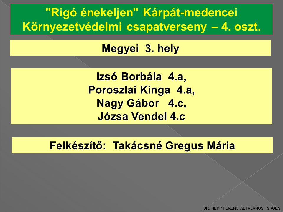 Rigó énekeljen Kárpát-medencei Környezetvédelmi csapatverseny – 4.