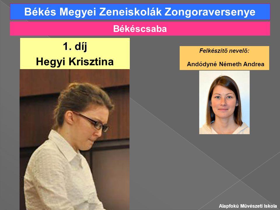 Békés Megyei Zeneiskolák Zongoraversenye Hegyi Krisztina 1.