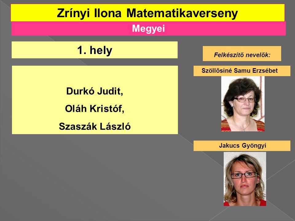 Megyei Zrínyi Ilona Matematikaverseny 1.