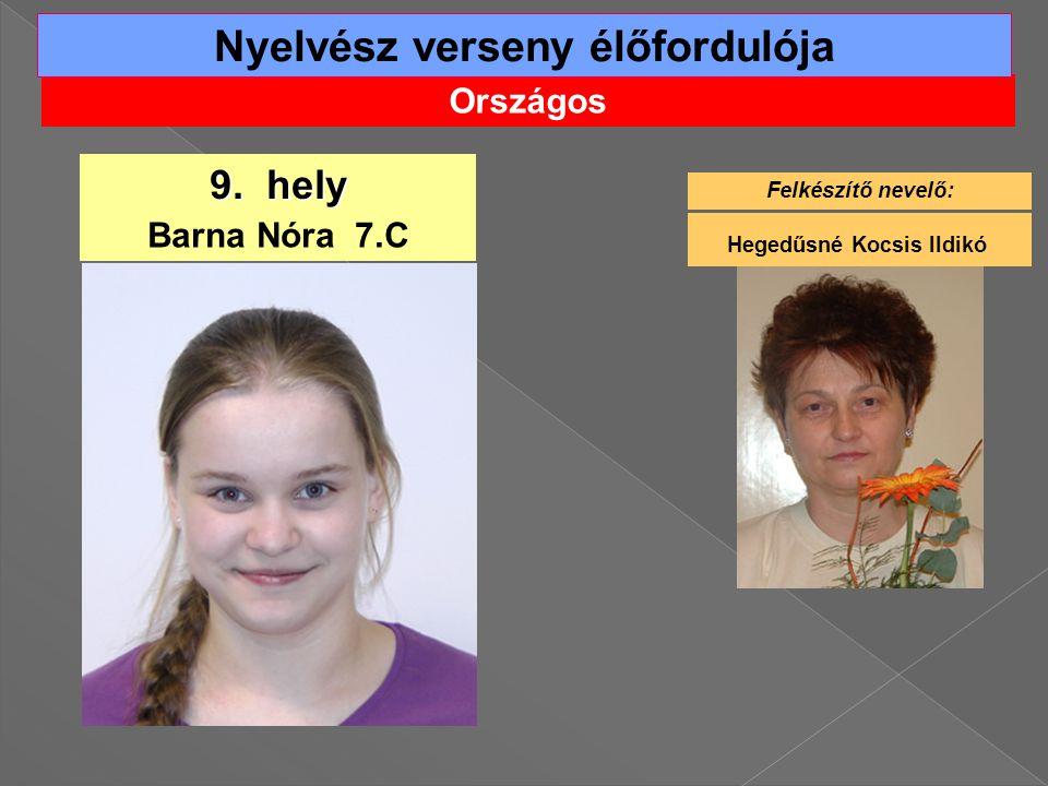 Országos Nyelvész verseny élőfordulója 9.