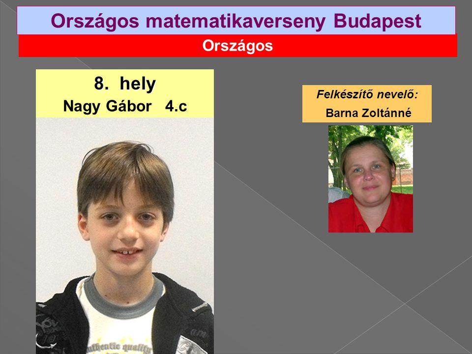 Országos Országos matematikaverseny Budapest 8.